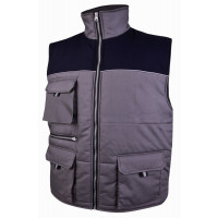 DELTA PLUS- HERALD GILET POLYESTER COTON GRIS/ MARINE - HERALGM0