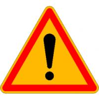 Panneaux de signalisation de danger Type AK14 - AK141000CLT2