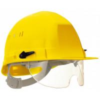 SOFOP TALIAPLAST-Casque polyéthylène à molette avec lunette intégrée Visiocéanic Jaune- 564822