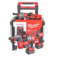 Pack 4 outils MILWAUKEE POWERPACK M18 FUEL + PACKOUT - 4933479082