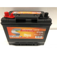 Batterie 80 Ah (20h) 257x172x220 Gamme STECO Décharge Lente STECOPOWER - L031SP24DL