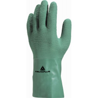 DELTA PLUS-GANT LATEX SUPPORTE ADHERISE VERT-LAT500