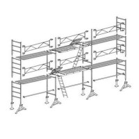 Échafaudage ALTRAD VITO49, lot de 60 m² - Structure avec garde corps fixe + planchers - L49060GFP