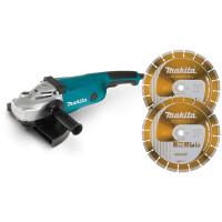 Meuleuse Ø 230 mm 2200 W ( kit d'accessoires) - LOT0131 (Pack Outillages Electroportatifs)