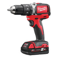 Perceuse à percussion compacte BRUSHLESS 18 V 2 Ah 50 Nm MILWAUKEE M18BLPD202C-4933448447