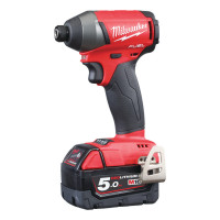 "Visseuse à Chocs compacte MILWAUKEE Hex 1/4 FUEL 18V 5Ah 4 Modes  23/79/203Nm + 1 Vitesse de Finition "" M18 FID-502X-4933451066"