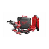Pack 2 produits MILWAUKEE 18V FUEL livré avec deux batteries et chargeur en coffret HDBOX M18FPP2B-505X - 4933451077