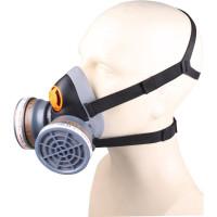Demi-masque confort bi filtre équipé de 2 galettes filtrantes A2 et 2 pré-filtres P3 DELTA PLUS M6400 SPRAY KIT- M6400EA2P3R