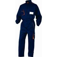 DELTA PLUS- COMBINAISON DE TRAVAIL PANOSTYLE® EN POLYESTER COTON Bleu Marine / Orange- M6COMBM0