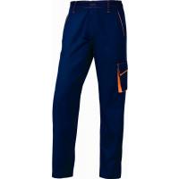 DELTA PLUS- PANTALON DE TRAVAIL PANOSTYLE® POLYESTER COTON Bleu Marine / Orange -M6PANBM0