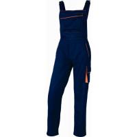 DELTA PLUS- SALOPETTE DE TRAVAIL PANOSTYLE® POLYESTER COTON Bleu Marine / Orange- M6SALBM0