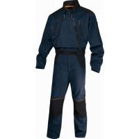 DELTA PLUS- COMBINAISON DE TRAVAIL MACH2 CORPORATE EN POLYESTER COTON - DOUBLE ZIP Bleu Marine / Noir -MCCDZBM0