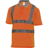 Polo polyester haute visisbilité orange fluo DELTA PLUS - OFFSHOR0