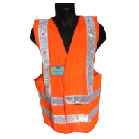 GILET DE SÉCURITÉ ORANGE AVEC 16 LED ROUGES PROLUTECH - P023GLEDO0