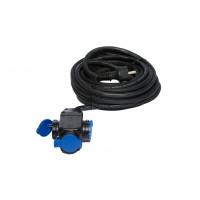 Prolongateur professionnel Triple prises à clapet -10 m-H07RNF 3G 2,5 CEBA- P10257TE