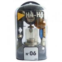 Coffret de secours d'ampoules 12V compact H1+  H7 6 lampes + 2 fusibles - 16275