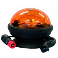 Gyrophare ellipse magnétique 12/24V Ø 140 mm hauteur 113 mm- 16935