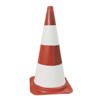 SOFOP- Cône caoutchouc hauteur 52 cm Rouge et Blanc- 520701