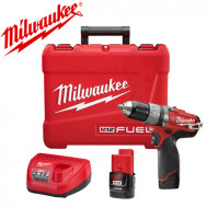 MILWAUKEE- M12 CPD 202C Perceuse percussion Compacte FUEL 12V Li-Ion 2,0Ah + 1 chargeur + 2 batteries+ 1 coffret-  4933440370