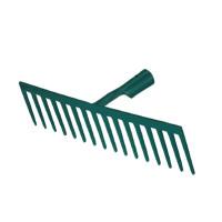 Râteau forgé 14 dents droites sans manche - 376140 (Outils de jardin à main)