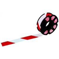 Rubalise rubaplast rouge et blanc sur flasque 50 mm * 500 m SOFOP TALIAPLAST - 540501