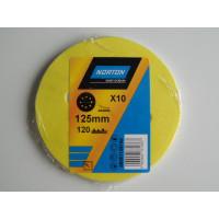 Papier à poncer disques abrasifs 125 grain 120 NORTON - 63642584344