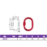 COBALTIX- ANNEAU OVALE SIMPLE AS AVEC MEPLAT-  MMAAS1