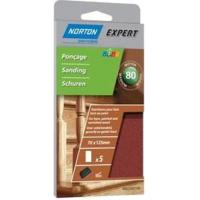 5 recharges auto-agrippantes non perforées pour bois NORTON 70*125 Grain 80 -66623307198