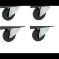 Jeu de 4 roulettes pivotantes Ø 100 pour CR800(B) - CR850(B) - CR1035(B) SORI - OCRP35