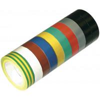 LOT DE 10 ROULEAUX PVC ADHESIFS MULTICOLORES SOFOP TALIAPLAST- 401041