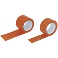 ROULEAU PVC SOFOP TALIAPLAST ORANGE LISSE 50 MM 33 MÈTRES - 204401