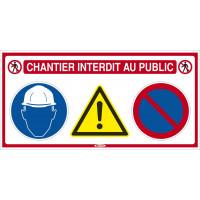 """Panneau 4x1 """"Chantier interdit au public"""" SOFOP TALIAPLAST - 620011"""