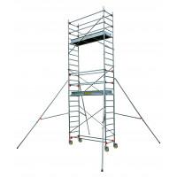 Echafaudage aluminium SERENITE longueur 2m05 largeur 0,69 m hauteur de travail 7m90 2 niveaux CENTAURE ST205 - 504746
