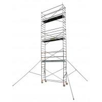 Echafaudage aluminium SERENITE longueur 2m55 largeur 0,69 m hauteur de travail 6m90 2 niveaux CENTAURE ST255 - 504755