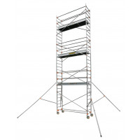 Echafaudage aluminium SERENITE longueur 2m55 largeur 0,69 m hauteur de travail 9m90 3 niveaux CENTAURE ST255 - 504758