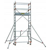 Echafaudage aluminium SERENITE longueur 1m65 largeur 0,62 m hauteur de travail 4m80 1 niveau base pliante CENTAURE STM165 - 504733