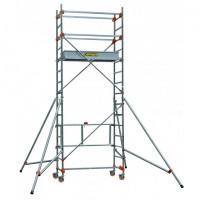 Echafaudage aluminium SERENITE longueur 1m65 largeur 0,62 m hauteur de travail 4m80 1 niveau CENTAURE STM165 - 504723