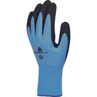 Gants 100% acrylique main toute enduite latex bleu clair DELTA PLUS - VV736BL0