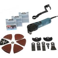 Découpeur-ponceur multifonctions MAKITA 320 W + kit d'accessoires + coffret Mak Pac- TM3010CX3J