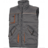 GILET MULTIPOCHES MACH POLYESTER / COTON Gris-Orange STOCKTON2 DELTA PLUS-STOC2GR