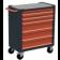 Servante d'atelier rouge 6 tiroirs RUBI- 7600